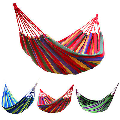 Foldable Outdoor Garden Cotton Rope Hammock Swing Hang Bed Camping Air Chair New