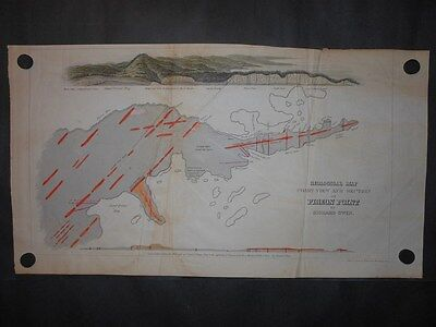 Scarce Pigeon Point Minnesota 1852 Map Grand Portage Hand Colored