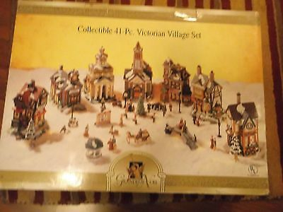 Grandeur Noel Collectible 41 Piece Victorian Village Set