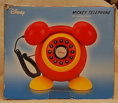 Disney Mickey Telephone with Illuminated Ringer (Model DPH8020-C) Red Yellow