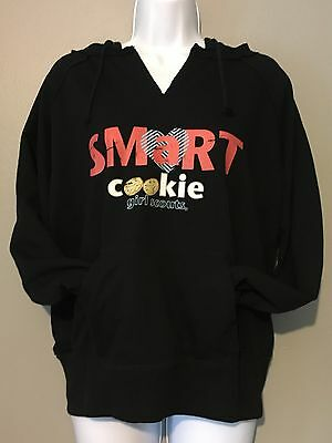 Girl Scouts Sweatshirt A Smart Cookie Hooded Sweatshirt Youth Size Large 14-16