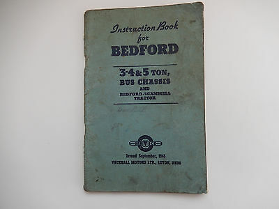 3-4&5 ton BEDFORD bus chassis & scammell tractor handbook