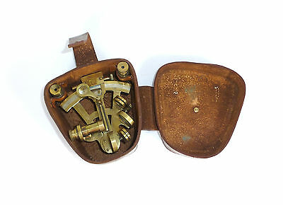 Seltener Sextant in Ledertasche England Stanley London 1917