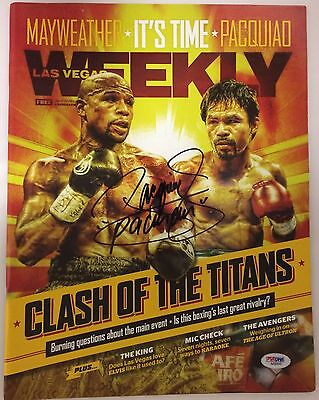 Manny Pacman Pacquiao Signed Magazine Autographed PSA/DNA Las Vegas Weekly