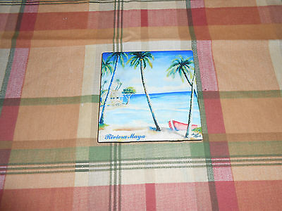 Riviera Maya colorful beach seascape wall art tile Ingrid Miguel Cancun Mexico