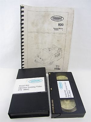 TENNANT 800 Manual & VHS Operator Training Video 1999 - 330120 rev 3 / 48842