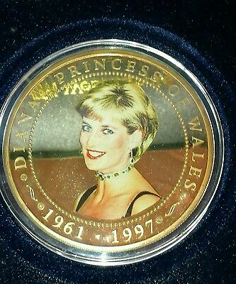 Diana , Princess of Wales 5 oz. Coin with Diamonds
