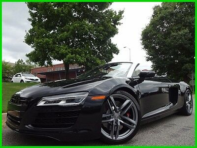 2014 Audi R8 CLEAN CARFAX WE FINANCE TRADES WELCOME V8 AUTOMATIC PADDLE SHIFT CONVERTIBLE BANG & OLUFSEN BLUETOOTH NAV BACKUP CAMERA