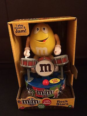 Brand New! 2016 Yellow M&M's Rock Stars Drummer Drums Musical Collectible Gift