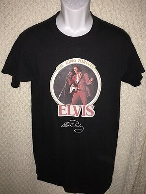 Vintage Elvis Presley The King Forever t-shirt iron-on style size adult Medium