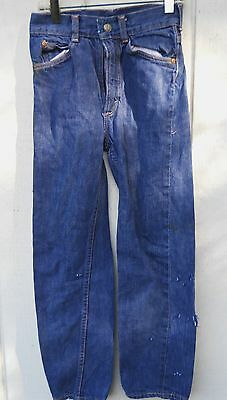 """Vintage Boys Foremost Penney's Red-Lines Jeans  Zipper Fly Size 11""""w 22"""" L"""