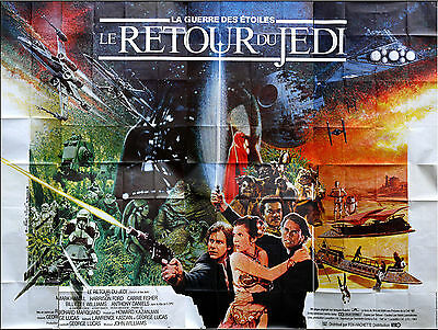 RETURN OF THE JEDI - Huge French Movie Poster - 157 x 118 in.- Star Wars, Lucas