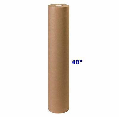 """48"""" x 900' Brown Kraft Paper Roll 40# lb Shipping Wrapping Packaging Cushioning"""