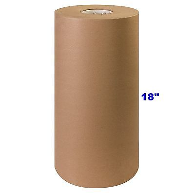 """18"""" x 900' Brown Kraft Paper Roll 40# lb Shipping Wrapping Packaging Cushioning"""