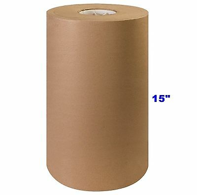 """15"""" x 900' Brown Kraft Paper Roll 40# lb Shipping Wrapping Packaging Cushioning"""