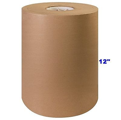 """12"""" x 1200' Brown Kraft Paper Roll 30lb Shipping Wrapping Packaging Cushioning"""