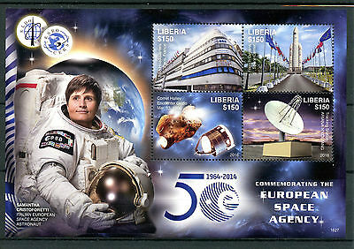 Liberia 2016 MNH ESA European Space Agency 50th Anniv 4v M/S Comet Halley Stamps