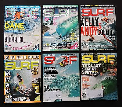 Transworld Surf Magazine 2009 Used Lot Of 6 Issues Vol.11  Surfer Surfing