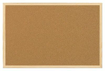 New Large Cork Notice Pin Board 90 x 60cm Office Home Pictures Present Memo Best