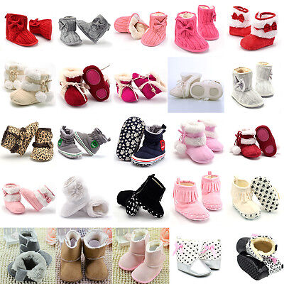 Baby Girl Boy Soft Sole Booties Snow Boots Infant Toddler Newborn Crib Shoes Lot