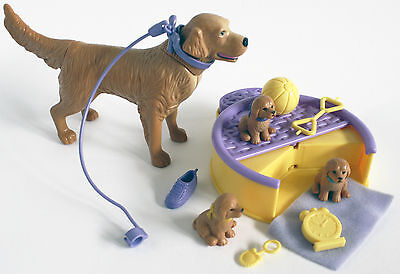 Barbie 2001 Kennel Care Bedtime Retrievers - Used COMPLETE