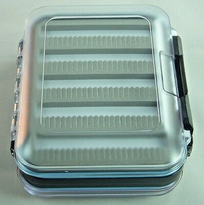 2 Sided Clear Ice/Trout Fishing Jig Box Waterproof Compartments Organizer-SM