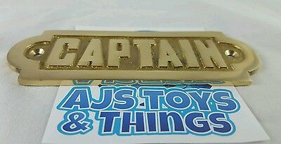 Captain plate sign home decor/ office decor garage decor