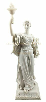 "Greek Goddess Of Health Hygieia Hygea Figurine Sculpture 12"" Tall Resin Statue"
