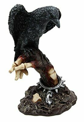 "Design Toscano The Raven's Perch Zombie Statue 6"" Height Figurine"