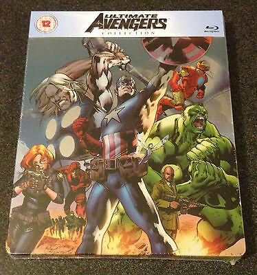 ULTIMATE AVENGERS COLLECTION Blu-Ray SteelBook Zavvi UK Exclusive New OOP & Rare