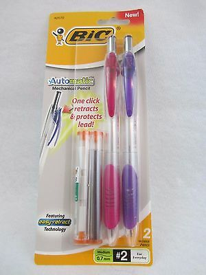 BIC Automatic Mechanical Pencil, 0.7mm One Click Retract  #2 New