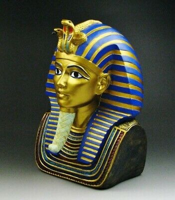 "Ancient Egyptian Large 9"" King Tut Bust by Summit Figurine"