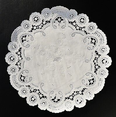 "25 - 10"" White FRENCH LACE Paper Doilies 