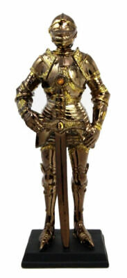 """7"""" Tall Medieval Knight Statue Figurine Suit of Armor with Stand"""