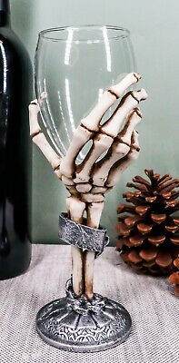 Grasp Of the Dead Eternal Slave Skeleton Hand Wine Glass Drink Goblet Chalice
