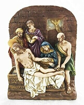 Stations Of The Cross Fourteenth Jesus Was Laid In Tomb Sculpture Figurine