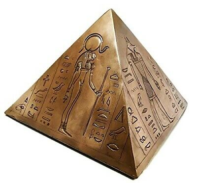 Ancient Egyptian Gods And Deities Pyramid Cremation Urn Figurine Funeral Supply