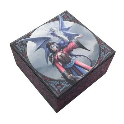 Anne Stokes Assassin FromThe East Wind Dragon Rider Jewelry Trinket Mirror Box