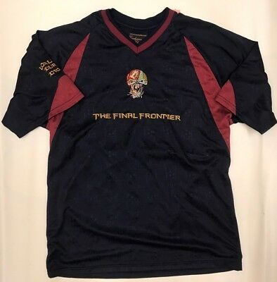 Worn Men's IRON MAIDEN Soccer Jersey The Final Frontier 2010 Size Large