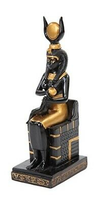 7.5 Inch Two Color Resin Egyptian Sitting Isis Symbol Statue Figurine