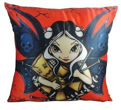 """Fairy Voodoo Cushion Pillow 14"""" X 14"""" By Jasmine Becket Griffith"""