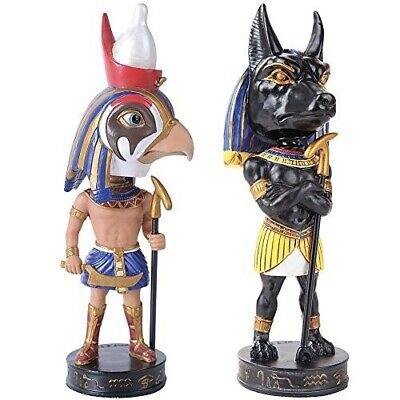 (Set) Horus and Anubis Ancient Egyptian Gods Of War & Afterlife Bobbleheads