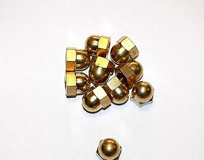 Domed cap nuts M3, 4, 5, 6, 8 Brass , high Form , DIN 1587 , Cap nut