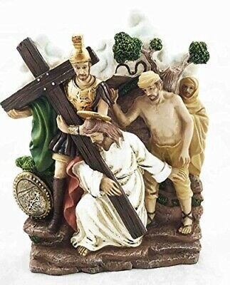 Stations Of The Cross Third: Jesus First Fall Via Dolorosa Sculpture Personal...