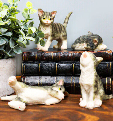 Crazy For Cats Four Playful Feline Kittens Adorable Kitty Cat Figurine Animal