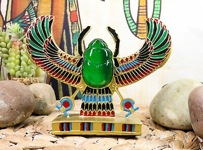 "Egyptian Winged Scarab Collectible Ancient Egypt Figurine 6""L"
