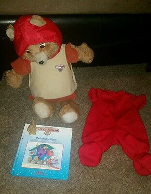 Teddy Ruxpin Storytelling Bear With Book, Outfits & Mini Grubby