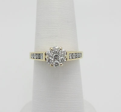 Zales 3/4CT Diamond Solitaire Engagement Wedding Ring 14K Yellow Gold