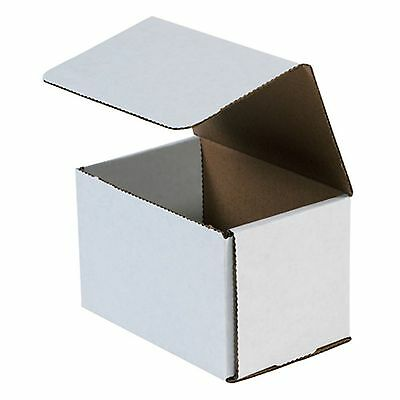 50- 6x4x4 White Corrugated Carton Cardboard Packaging Shipping Mailing Box Boxes