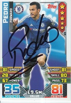 Pedro Hand Signed Chelsea Match Attax Card 15/16.